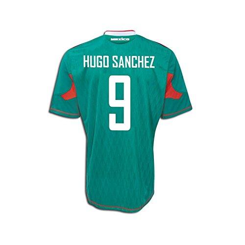 気球アヒル頭蓋骨Adidas Hugo Sanchez #9 Mexico Home Soccer Jersey 2010/サッカーユニフォーム メキシコ ホーム用 背番号9 ウーゴ?サンチェス