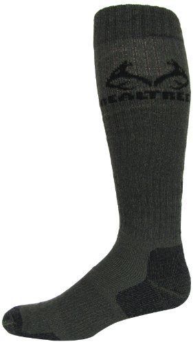 Tall Boot Socks - Realtree Outfitters Men's Ultra-Dri All Season Tall Boot Socks (1-Pair), Olive, Large