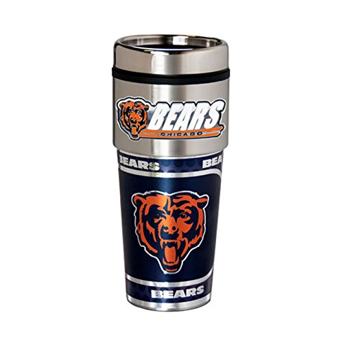 Great American Products Chicago Bears 16oz. Stainless Steel Travel Tumbler/Mug ()