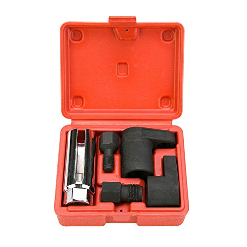 O2 Oxygen Sensor Socket Offset Wrench Remover Tool Thread Chaser 5 Pcs Set(3/8
