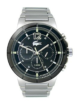 Lacoste Darwin Chronograph Silver-Tone Stainless Steel Men's watch #2010744