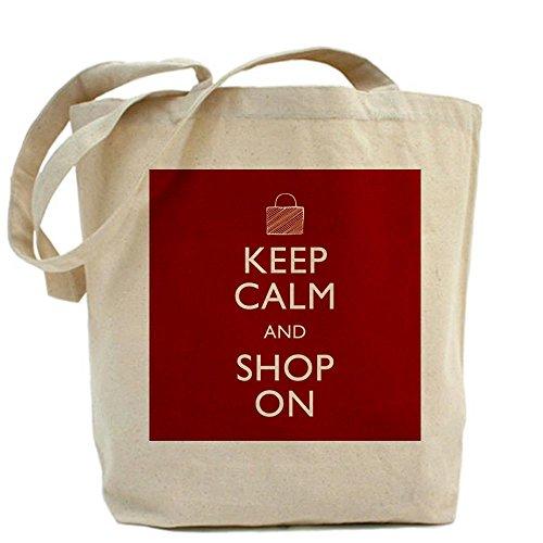 CafePress Funny Unique Design Keep Calm Shop On Tote Bag - Standard Multi-color