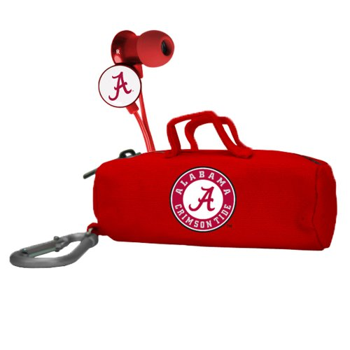 AudioSpice NCAA Alabama Crimson Tide Scorch Earbuds with Bud ()