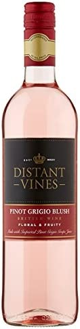 Broadland Wineries – Distant Vines Blush Pinot Grigio British Rose Wine (6 x 75cl Bottles)