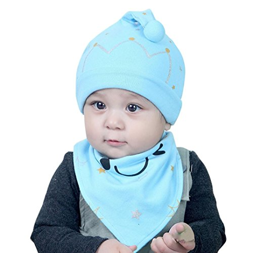baby-scarf-and-hattodaies-2pcs-set-cotton-baby-boy-girl-cap-hat-bib-head-scarf-toddler-saliva-1pc-bl