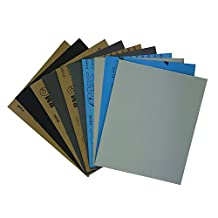 Astron Top Wet or Dry Sandpaper, 9 x 11 Inch, 10-Sheet, 2 Each of 5 Grits 240/600/1000/1500/2000 Sand Paper, SBH0110B