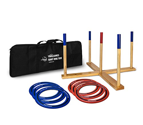 Yard Games Giant Ring Toss with Soft Touch Flying Rings by Yard Games