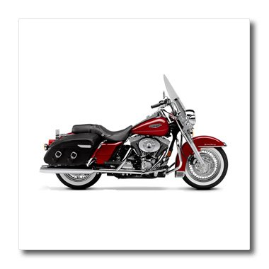 3dRose ht_4487_1 Iron on Heat Transfer Picturing Harley-Davidson and No.174 Motorcycle