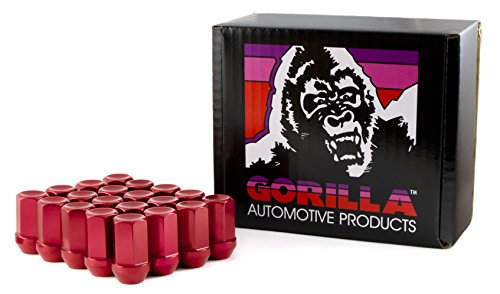 Gorilla Automotive 44128RD-20 Red 12mm x 1.25 Thread Size Aluminum Closed End Racing Lug Nut, (Pack of 20) by Gorilla Automotive