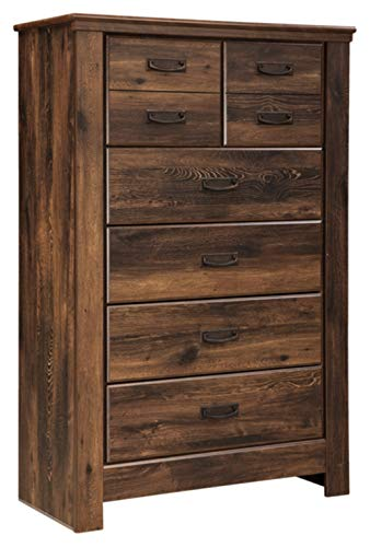 Ashley Furniture Signature Design - Quinden Chest of Drawers - 5 Drawers - Vintage Casual - Dark Brown ()