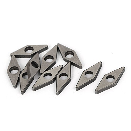 Uxcell a16010500ux0256 Machine Lathe Milling Tool Carbide Cutter Turning Insert mV1603 10 Pcs,