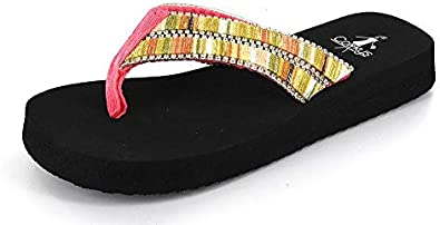 Corkys Kids Dingo Flip Flop Bright Multi