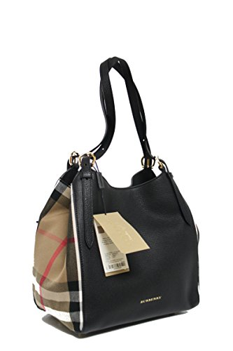 Burberry Women's Small Canter in and House Check Black - Bag Women Burberry For