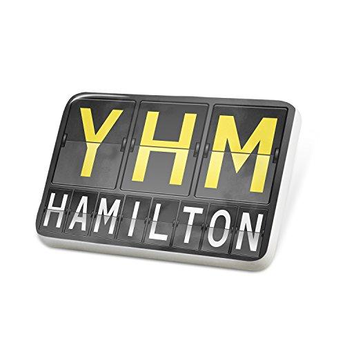 Pin YHM Airport Code for Hamilton Porcelain Brooch - Porcelain Hamilton