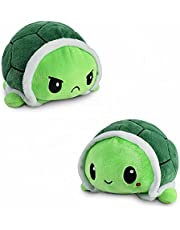 Schildpad, sfeervolle knuffeldier, schildpad, pluche dier, dubbelzijdige flip-pluche knuffeldier, schattige omkeerbare pop, kinderspeelgoed, cadeau, knuffeldieren, kleine schildpadden, speelgoed, flip-doll voor meisjes en jongens