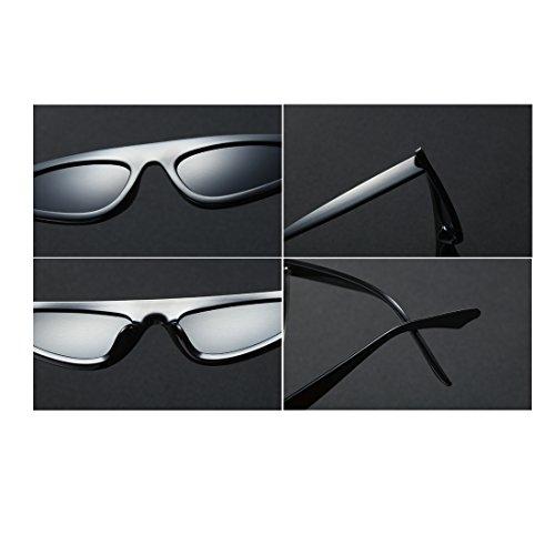marco de estilo de estilo de sol Huicai Estilo gato ojo de Gris moda diseñador de de de Oscuro de Gafas vintage sol de Gafas pequeño ZHAqT