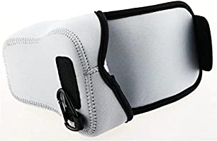 kinokoo Neoprene Camera Case Bag Cover for Olympus EM1,Fujifilm XT1 XT10//XT20,Canon SX60-Silver