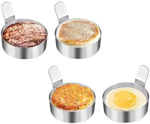 Egg Ring Non Stick Stainless Steel Omelet Mold Eggs Mold Cooking Kitchen Pancake Poached Egg Accessory Tools Round 4PCS