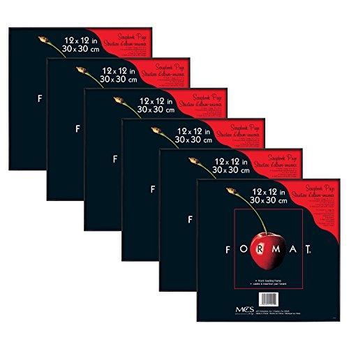 MCS 12x12 Inch Format Frame 6-Pack, Black