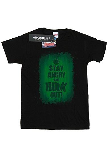 Del Stay Angry Hulk Mujer Novio Fit Camiseta Negro Marvel T7XqHxnn