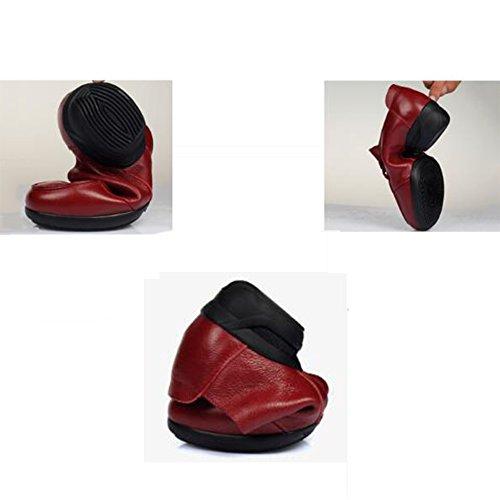 Color Colores Baile Rojo 3 Primavera Jazz PENGFEI Zapatos Medio Mujeres Cómodo UK5 De De Y Otoño Fondo 5 Tamaño Talón Rojo Suave EU38 L Las 240mm awqETFE