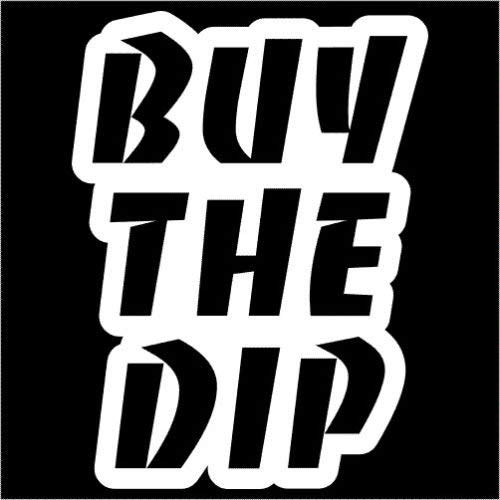 Buy The Dip Bitcoin Sticker Decal White Choose Size