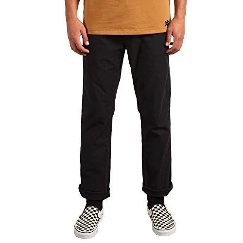 Volcom Men's VSM Gritter Modern Workwear Chino Pant, Black, 33