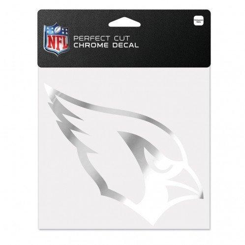 WinCraft NFL Arizona Cardinals Chrome Perfect Cut Decal, 6 x 6, Black (Wincraft Arizona Cardinals Decal)