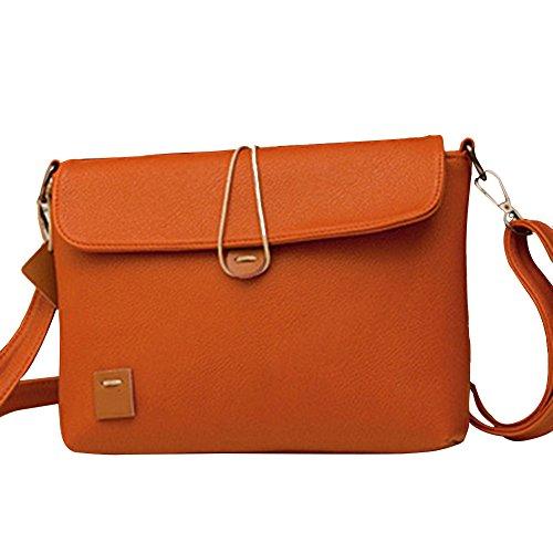 Hrph Messenger Taschen Vintage Frauen Pu Preppy Retro Kreuz Körper Handtasche Schule Ladie Casual Taschen Bolsas Button Brown