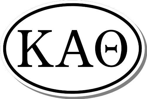 Kappa Alpha Theta Sorority Euro Oval Bumper Sticker Decal