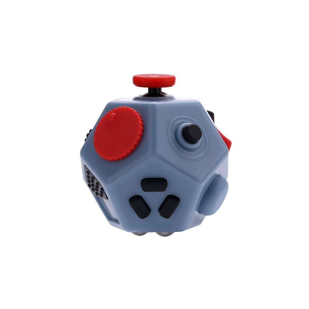 UOOE Fidget Cube,12 Side Fidget Cube,Mini Fidget Toys Relief Stress and Anxiety Depression Anti for Kids and Adults with ADD, ADHD, OCD, Autism by UOOE