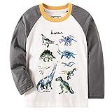 Bleubell Toddler Boys Dinosaur Long Sleeve T Shirt 3t White
