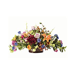 Floral Tapestry Silk Flower Centerpiece 53