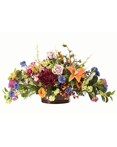 Floral Tapestry Silk Flower Centerpiece (Dining Arrangements Room Floral)