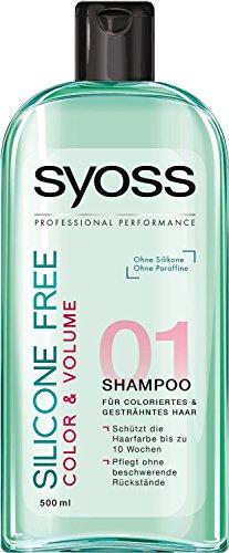 3x Syoss Shampoo/ Color & Volumen/ ohne Silikone/ für coloriertes und gesträhntes Haar/ je 500ml