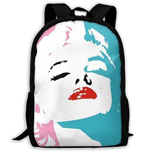Ma-Rilyn Monroe Children School Book Bag Kids Computer Backpacks for Boys Girls ()
