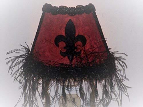 Burgundy Fleur De Lis French Chic European Decor Night Light Gift