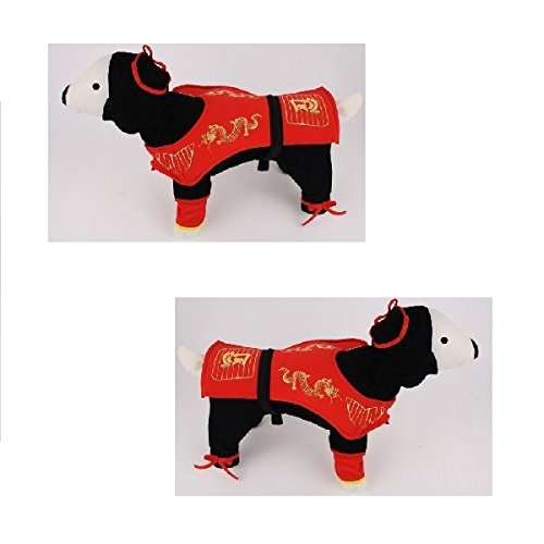Dog Costume - DRAGON NINJA COSTUMES Dress Your Dogs As Red Ninjas(Size 3)]()