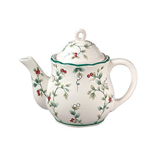 Pfaltzgraff Winterberry Sculpted 4-Cup Teapot (Winterberry Tableware Collection)