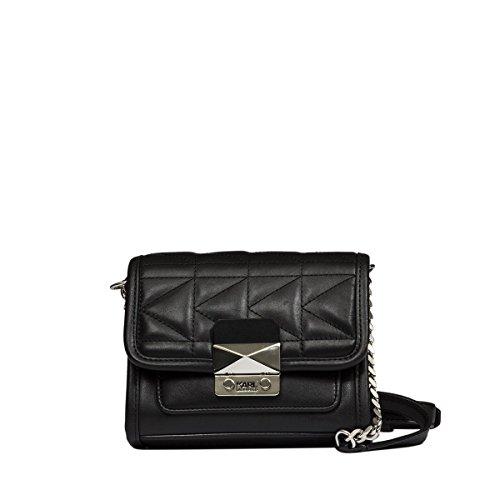 karl-lagerfeld-womens-71kw3047smooth999-black-leather-shoulder-bag