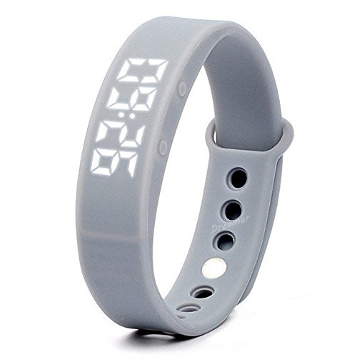 W5 Pedometer Sleep Monitor Temperature Bracelet Smart Watch(Gray) - 3