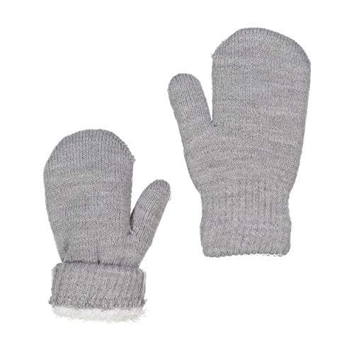 ZEHU Unisex Kids Toddler Magic Stretch Knit Warm Winter Mittens(M, Lt Grey)