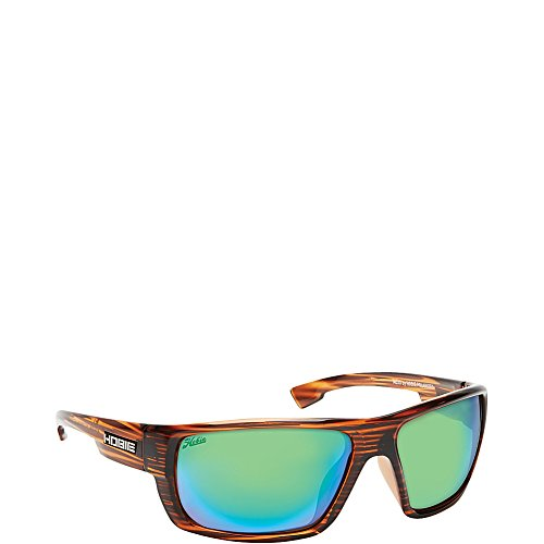 - Hobie Men's Mojo Polarized Rectangular, Satin Brown Wood Grain, 67 mm