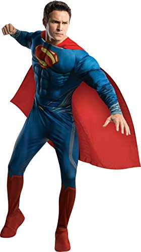 Rubie's Costume Man Of Steel Deluxe Adult Muscle Chest Superman, Blue/Red, Large Costume