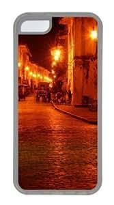 Apple iPhone 5C Case,iPhone 5C Cases - Old street city TPU Custom iPhone 5C Case Cover for iPhone 5C - Transparent...