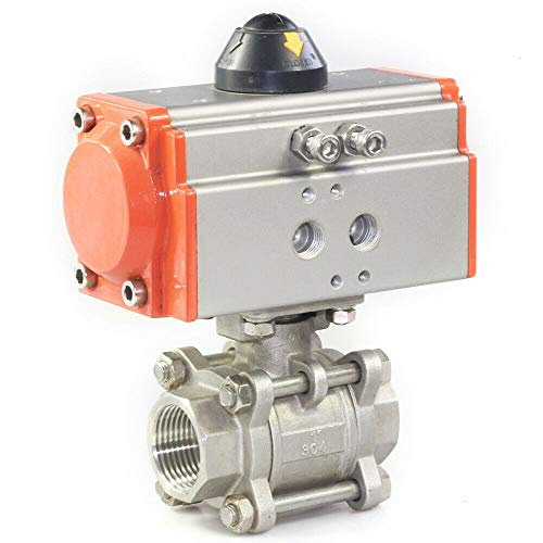 2inch Pneumatic Ball Valve DN50 Three-Piece Double Acting Air Actuated Ball Valve 2