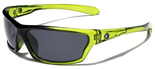 Polarized Wrap Around Sport Sunglasses - Lime
