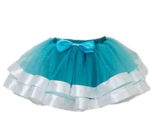 CJ Fashion Layered Ballet Tulle Tutu Skirt for Little/Toddler Girls Birthday Blue (J&l Dance Costumes)