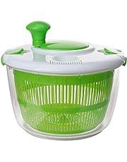 UPKOCH Kitchen Salad Spinner Lettuce Washer Dryer Drainer Crisper Strainer Compact Storage for Washing Drying Leafy Vegetables
