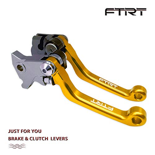 FTRT Pivot Dirt bike Brake Clutch Levers for Suzuki DR250R 1997-2000,DRZ400S/DRZ400SM 2000-2017 Gold